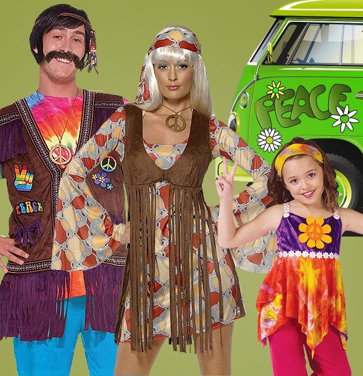 70er jahre hippie flower power party mottoparty blog kost. Black Bedroom Furniture Sets. Home Design Ideas