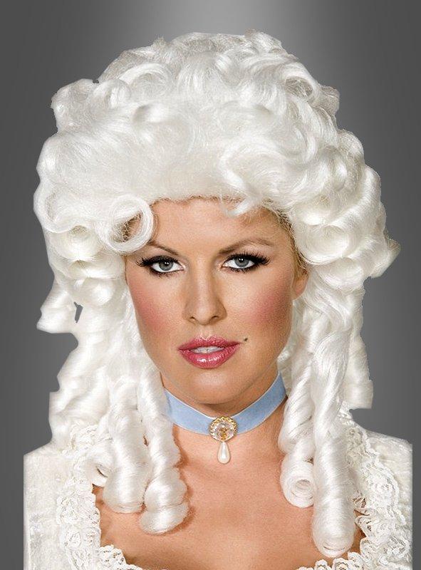 Weiss-blonde Perücke für Damen im Barock Look. So machen Sie ihr Barock Kostüm überzeugend!