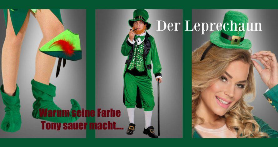 """Grün, grün, grün sind alle meine Kleider - singt der irische Kobold """"Leprechaun"""""""