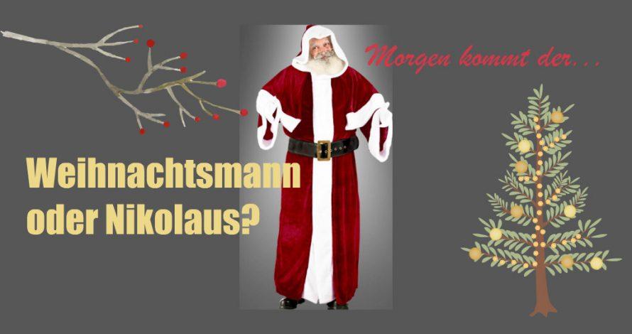 Coca Cola Weihnachtsmann oder Nikolaus? Wer hat den Mantel?