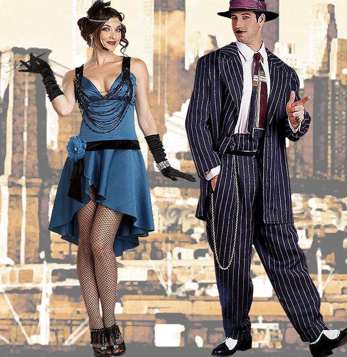 Charleston und Mafia Kostüme