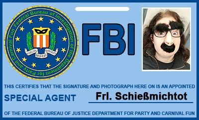 FBI-Ausweis-Kostümzubehör