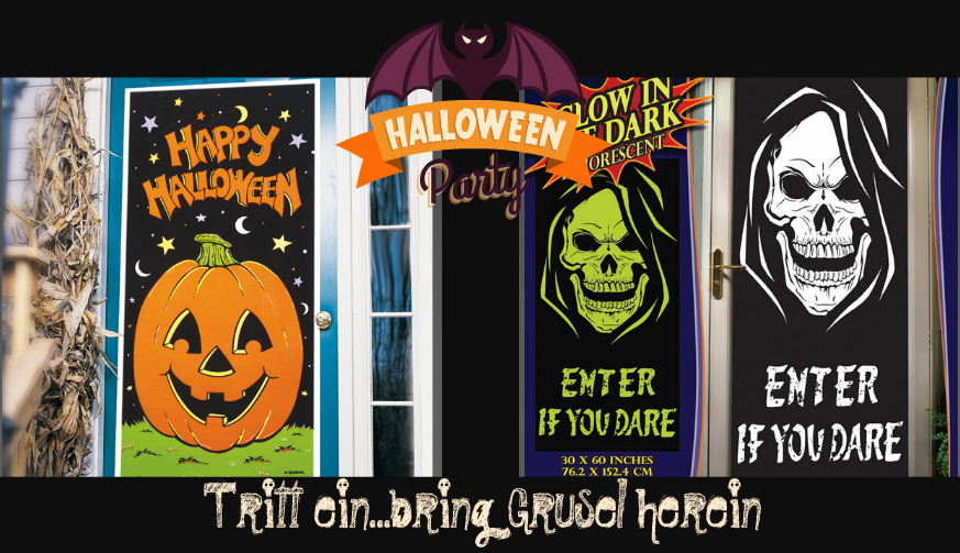 halloween-türposter-collage