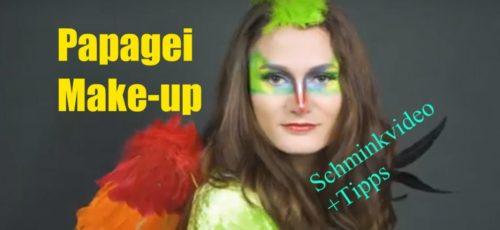Papagei Make-up