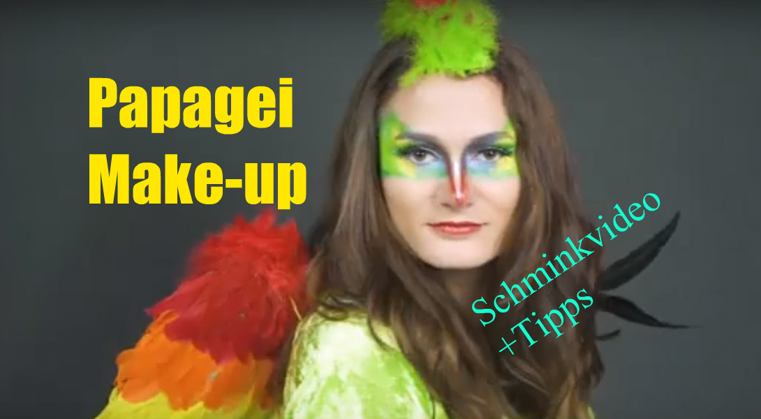 Papagei Make-up