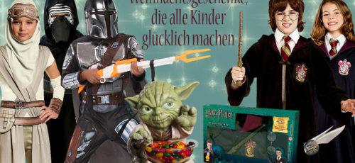Star Wars und Harry Potter sind zwei Themen, die zu Weihnachten immer wieder gut ankommen.